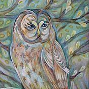 Картины и панно handmade. Livemaster - original item - Owl, Keeper of the dream -. Handmade.