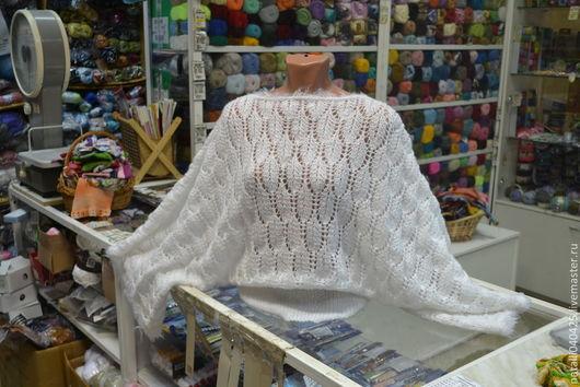 Кофты и свитера ручной работы. Ярмарка Мастеров - ручная работа. Купить свитер спицами белая ночь. Handmade. Белый