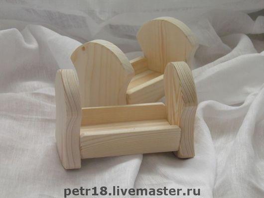 Кукольный дом ручной работы. Ярмарка Мастеров - ручная работа. Купить Кроватка - качалка для куклы. Handmade. Кроватка, деревянные заготовки