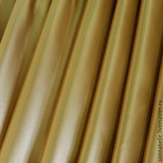Шитье ручной работы. Ярмарка Мастеров - ручная работа. Купить Ткань портьерная Сатен Шёлк Золотой цвет. Handmade. Разноцветный