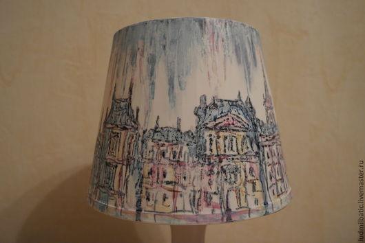 Освещение ручной работы. Ярмарка Мастеров - ручная работа. Купить Настольная лампа. Окно в Париж. Handmade. Голубой, улицы