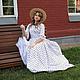 """Платья ручной работы. Ярмарка Мастеров - ручная работа. Купить Прогулочное историческое платье """"Энн"""". Handmade. Винтаж, винтажный стиль"""
