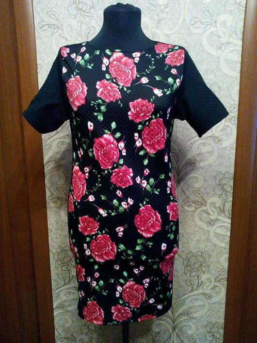 """Платья ручной работы. Ярмарка Мастеров - ручная работа. Купить Тёплое платье """"Розы"""" из капитония. Handmade. Розы, зимнее платье"""