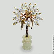 Цветы и флористика handmade. Livemaster - original item Miniature tree moonstone in a vase of onyx. Handmade.