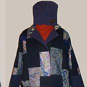 Пальто утепленное печворк из Павловопосадских платков
