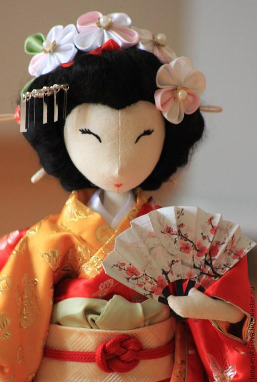 Коллекционные куклы ручной работы. Ярмарка Мастеров - ручная работа. Купить Текстильная кукла Японская девушка Харуми. Handmade. подарок