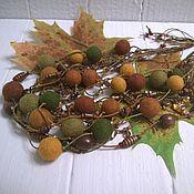 Украшения handmade. Livemaster - original item Listopad Multi-Row Felted Felted Wool Beads Necklace. Handmade.