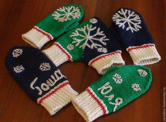 """Варежки, митенки, перчатки ручной работы. Ярмарка Мастеров - ручная работа. Купить Варежки для влюбленных """"Снежки"""". Handmade. Однотонный"""