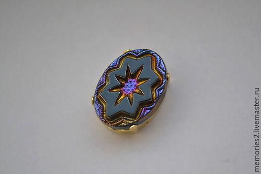 Для украшений ручной работы. Ярмарка Мастеров - ручная работа. Купить Винтажные стразы 18х13 мм цвет Black Iridescent. Handmade.