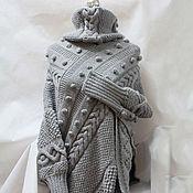 Одежда ручной работы. Ярмарка Мастеров - ручная работа пончо АДЕЛАИДА. Handmade.