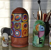 Русский стиль handmade. Livemaster - original item Matryoshka Circles. Handmade.