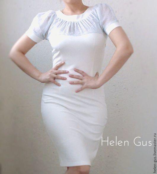 """Платья ручной работы. Ярмарка Мастеров - ручная работа. Купить Платье """"Нежность"""". Handmade. Белый, шифон, коктельное платье"""
