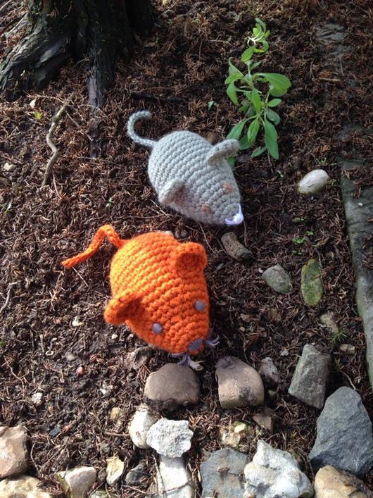 Игрушки животные, ручной работы. Ярмарка Мастеров - ручная работа. Купить Мышка Пышка. Handmade. Разноцветный, амигуруми, рыжий