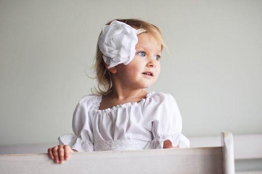 """Одежда для девочек, ручной работы. Ярмарка Мастеров - ручная работа. Купить Платье для девочки """"Белоснежное"""". Handmade. Белый, для девочки, сатин"""