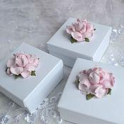 Бонбоньерки ручной работы. Ярмарка Мастеров - ручная работа Бонбоньерка с розами. Handmade.