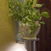 Для дома и интерьера ручной работы. Ярмарка Мастеров - ручная работа Светильник настенный с полкой под цветок, светильник в стиле хай тек. Handmade.