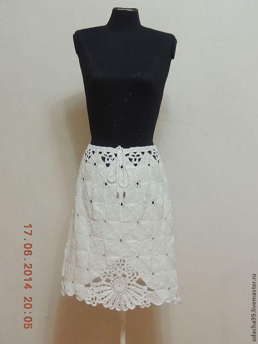 Юбки ручной работы. Ярмарка Мастеров - ручная работа. Купить юбочка из хлопка на лето. Handmade. Ирландское кружево, летняя одежда