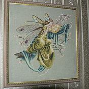 Картины и панно ручной работы. Ярмарка Мастеров - ручная работа Картина, вышивка крестом, The Dreaming Fairy. Handmade.