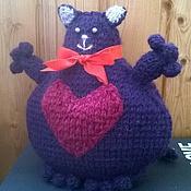 Куклы и игрушки ручной работы. Ярмарка Мастеров - ручная работа Кот с большим сердцем. Handmade.