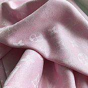 Палантины ручной работы. Ярмарка Мастеров - ручная работа Платок розовый из брендовой ткани Louis Vuitton. Handmade.