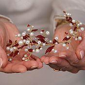 Свадебный салон handmade. Livemaster - original item Wedding wreath.. Handmade.