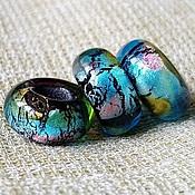 """Материалы для творчества ручной работы. Ярмарка Мастеров - ручная работа """"Тайна голубой планеты"""" бусины-шармы для браслета пандора. Handmade."""