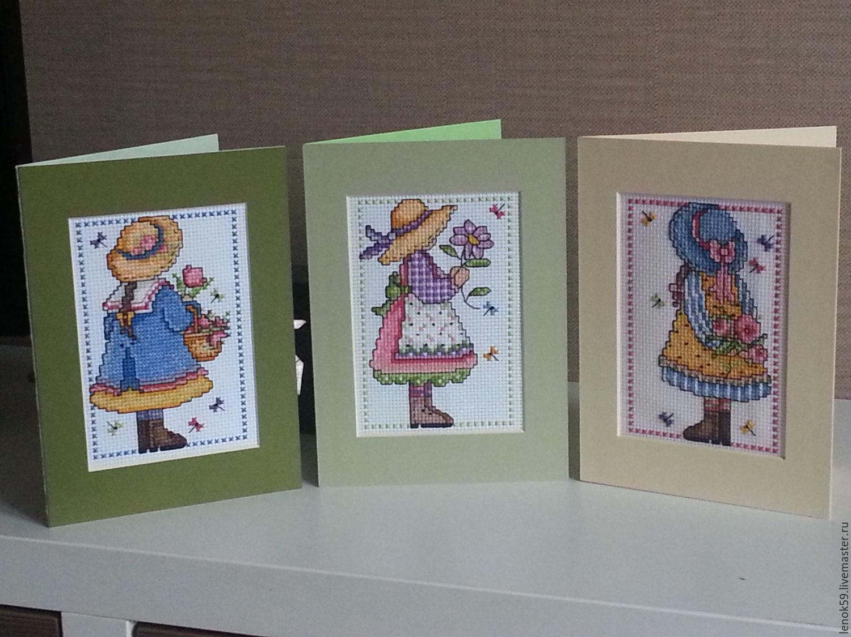 Вышивка оформленная в открытку