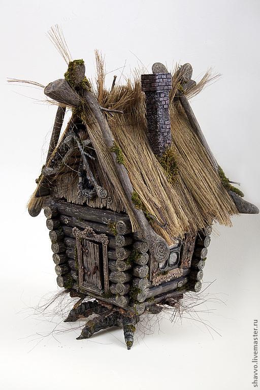 Кукольный дом ручной работы. Ярмарка Мастеров - ручная работа. Купить Домик-избушка на курьей ножке. Handmade. избушка
