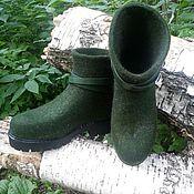 Обувь ручной работы. Ярмарка Мастеров - ручная работа Полусапожки зимние. Handmade.