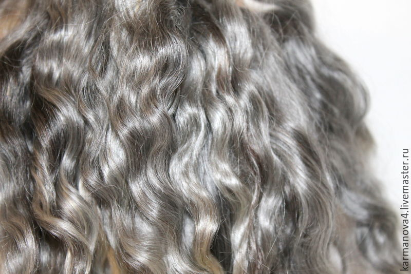 Hair for dolls (grey, natural, washed) Curls Curls for Curls for dolls, dolls to buy Hair for dolls, buy Handmade Fair Masters