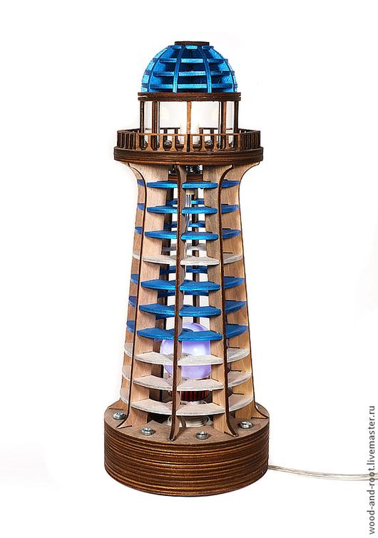 Освещение ручной работы. Ярмарка Мастеров - ручная работа. Купить Светильник Маяк Lighthouse Lamp II. Handmade. Бирюзовый, корабль