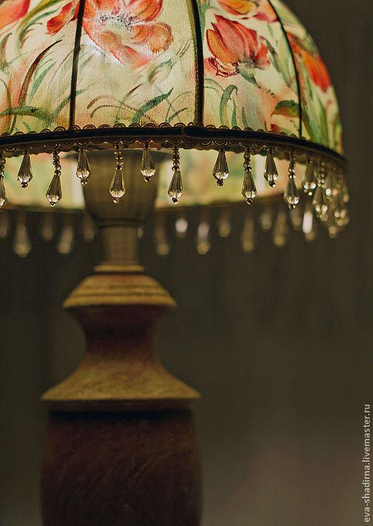 настольная лампа светильник светильник настольный авторская лампа авторский светильник абажур ева шадрина