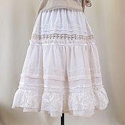 Одежда handmade. Livemaster - original item the lower skirt or skirt, with lace design. midi length.. Handmade.