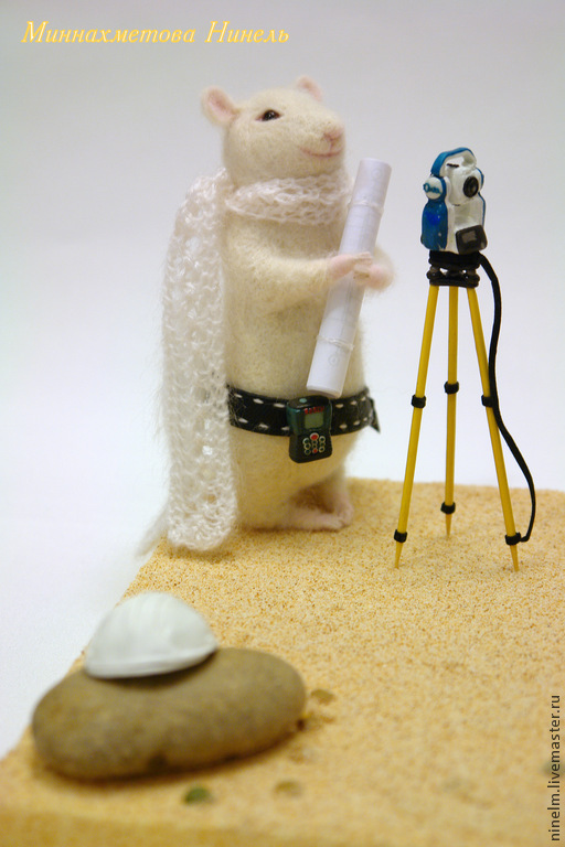 Игрушки животные, ручной работы. Ярмарка Мастеров - ручная работа. Купить Мыш Сканер. Handmade. Белый, игрушки ручной работы