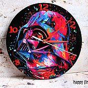 Для дома и интерьера handmade. Livemaster - original item Wall clock Darth Vader Star wars bright. Handmade.
