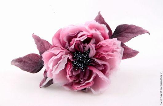 """Диадемы, обручи ручной работы. Ярмарка Мастеров - ручная работа. Купить Роза """"Маркиза""""-2. Handmade. Розовый, сиреневый"""