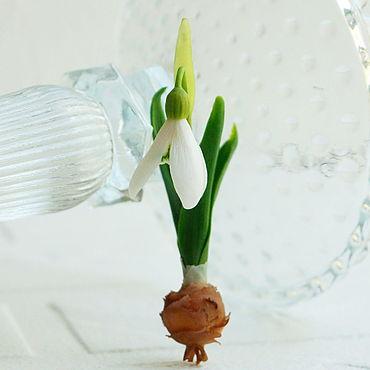 Flowers and floristry handmade. Livemaster - original item Snowdrops from a cold porcelain.. Handmade.