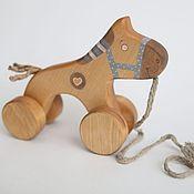 Куклы и игрушки ручной работы. Ярмарка Мастеров - ручная работа Лошадка на веревочке в голубом. Handmade.