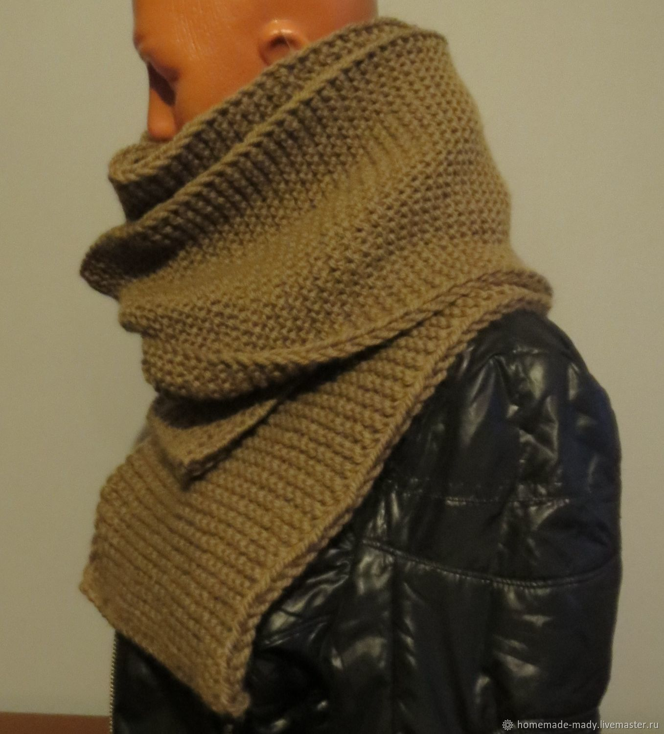Men's TOBACCO scarf 100% - wool, Scarves, Moscow,  Фото №1