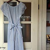 """Одежда ручной работы. Ярмарка Мастеров - ручная работа Платье """"Чайное"""" в голубую полоску. Handmade."""