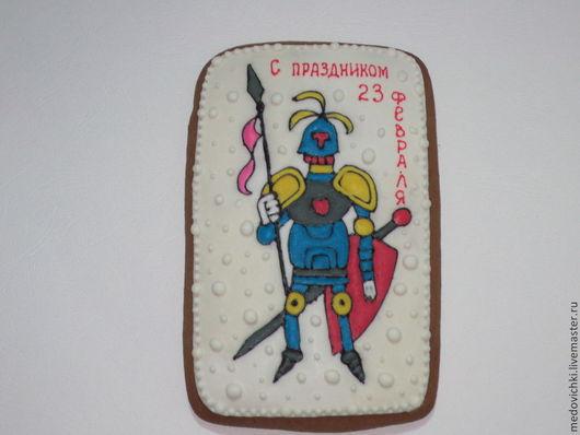 Кулинарные сувениры ручной работы. Ярмарка Мастеров - ручная работа. Купить Пряничный рыцарь-подарок к 23 февраля. Handmade.