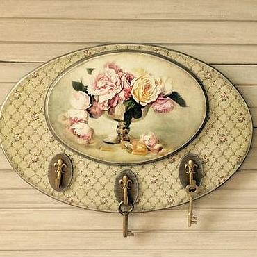 Для дома и интерьера ручной работы. Ярмарка Мастеров - ручная работа Вешалка- ключница Овальная. Handmade.