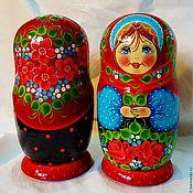 Русский стиль handmade. Livemaster - original item Matryoshka floral, 5 seats, Polinka !. Handmade.